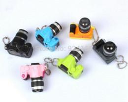Wholesale Camera Flash Key - 5pcs lot Creative Fashion Colorful Kaca Sound LED Light Flash SLR Camera Model Keychain Keyring Key Chain Ring Keyfob