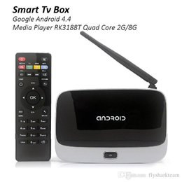 Wholesale Android Tv Box Rk3188 2g - RK3188 quad core tv box CS918 android 4.4 rk3188 android smart tv box CS918 2G+8G quad core rk3188 android tv box