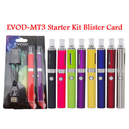 Wholesale Ego Multi Battery Charger - 100% MT3 BCC EVOD Blister pack kit mt3 atomizer with evod 650 9001100mah battery ego charger card board starter kit DHL Free