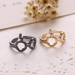 Óculos de dedos on-line-Relâmpago flash cicatrizes olho de vidro anéis de dedo liga ajustável anéis de banda anéis unisex Cosplay Moda jóias Will e Sandy 080078