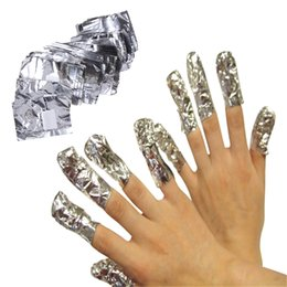 Wholesale Pc Removal Tool - 100 pcs Aluminium Foil Nail Art Soak Off Acrylic Gel Removal Wraps Remover Wraps Remover Makeup Tool