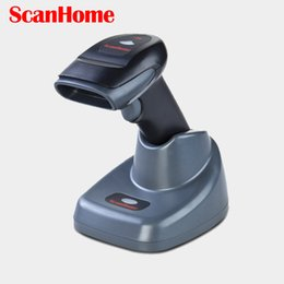 Wholesale Range Reader - Wholesale- Scanhome SH-4620 433MHz 2D Wireless Barcode Scanner Portable Handheld 100m Range Wireless 2D QR Code Reader Scanner W Stand