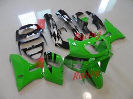 Zzr livelle verdi online-Set di kit di plastica per carrozzeria carrozzeria nero verde Kawasaki ZZR400 ZZR 1995-2003 5