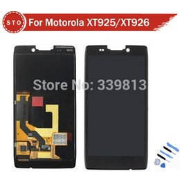 Wholesale Droid Razr Hd Digitizer - Wholesale-LCD Display For Motorola DROID RAZR HD XT926 XT925 LCD Display Touch Screen Digitizer Assembly +tools free shipping
