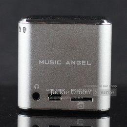Wholesale Musik Bluetooth - 100% Asli Silver Warna MD07 USB Musik Angel Speaker Heart Kotak Suara Kartu TF + MD07 Upgrade Speaker Mini