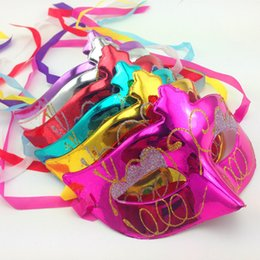 Wholesale Colorful Carnival Masks - 6 kinds of colorful Princess Venetian Masquerade face mask for Dance Party Halloween Carnival Venetian Mask Wholesale For Christmas
