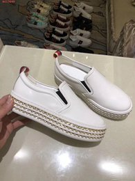 Wholesale Jewelry Black Hand - 2018 new women's shoes high-end fashion hand in fashion industry pearl jewelry apparel shoe luxury brand leisure shoes