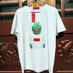 Wholesale Boxing Tee Shirts - 2018 sumer Brand hip hop casual kanye west KERMITs BOX LOGO TEE Sesame Street Cartoon Frog cotton men and women short sleeve T shirt men