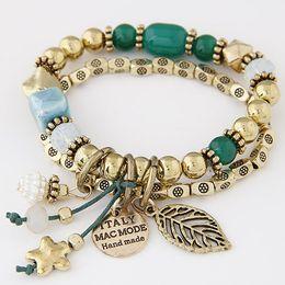 Wholesale Acrylic Channel - Bracelets for Women Beads Chain Charm Bracelets & Bangles Women Jewelry Bijoux Star Pulseira Feminina Pulsera Mujer Femme