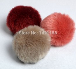 Wholesale Shoe Bags For Shipping - Wholesale-DIY fur balls 3pcs faux fur pom poms D8 for Beanies hats knited cap shoes key bag accessories fake fur pompoms free shipping