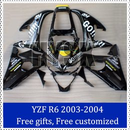 Wholesale R6 Custom Plastic - Go!!! fairing kits for Yamaha 03-04 YZF-R6 Custom Painting Motorcycle Fairing 2003 2004 YZF R6 ABS Plastic Cowling with free gifts