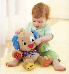 Wholesale Musical Dog Laugh Learn - Wholesale-Musical Dog 1pcs 7 x 11 x 13 inches Laugh and Learn Love to Play Puppy Baby Plush Musical Toys Singing English Songs