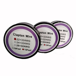 best e cig wholesale Coupons - Best Clapton Wire Resistance Wire 15 Feet 22+32 24+32 26+32 Gauge Heating Wires for DIY Rebuildable RDA RBA E Cig Atomizer