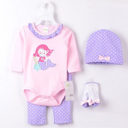 Wholesale Maid Clothing - 2015 Payifang Sea-Maid Baby Girls Clothes Suits ropa de bebe roupas Purple Dot baby girl's outfit Free Shipping