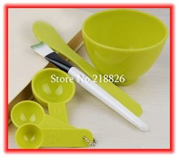 Wholesale Diy Toiletry Kit - Big Promotion! 10pcs lot DIY beauty cosmetics facial mask toiletry kit 4 mask bowl mask stick mask brush batchmeter