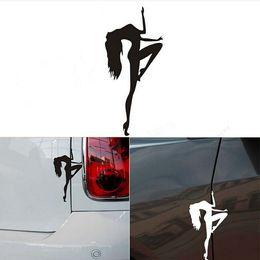Wholesale Dance Stickers - Pole Dancing Car Stickers Waterproof On Rear Windshield Door Tank Lid Decal