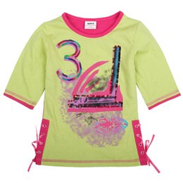 Wholesale Girls Top Nova - summer Nova wholesale baby clothes sweet new design girl t shirt cotton top hot sale kids t shirts child clothes