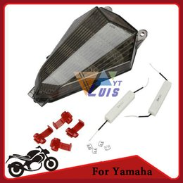 Wholesale Lights For Track Bikes - Motorcycle Bike Tail Brake Light Turn Signal Running Light Smoke Rear Lamp for Yamaha YZF R6 2006 2007 2008 2009 2010 2011 order<$18no track