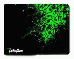 Wholesale Rubber Edges - New Razer Goliathus Gaming Mouse Pad 300*250*2mm Locking Edge Mouse Mat Speed Control Version For Dota2 3 CS Mousepad Free Shipping