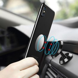 Wholesale Air Vents - 360 Degree Universal Magnetic Air Vent Mount Car Holder 3 colors Aluminium Alloy Phone Stand For Smartphone