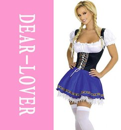 Wholesale Country Girl Sexy - Sexy Costume For Women Sex Country Girl Halloween Costumes Serving Wench Outfit LC8046 Cheap price Free Shipping Fast Delivery FG1511