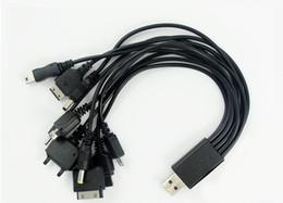 Universal cargador de teléfono celular multi online-2015 Nuevo Multi 10 en 1 Universal Juego de teléfono celular Cargador de cable de carga USB Juego 5pcs