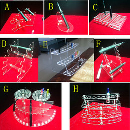 Wholesale Shelf For Electronics - various styles electronic cigarette stand holder Acrylic display case shelf holder display rack for ego battery atomizer tank e cig drip tip