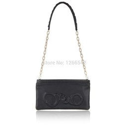 Wholesale Handcuffs Pu - women New 3D Handcuffs snake Pu leather clutch bags with chain shoulder messenger bag Cheapest price Factory Clearance sale