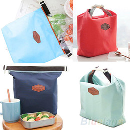 Wholesale Lunch Cool Bag - 10pcs Thermal Cooler Insulated Waterproof Lunch Carry Storage Picnic Bag Pouch lunch bag 12VV