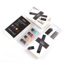 Wholesale Coco Wholesale - COCO Smoking Starter Kit 220mAh Battery Ultra Portable 4 Pods Vape Pen For Juul Vapor pod Cartridge DHL Free shipping 0209656