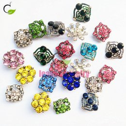 Wholesale Stainless Steel Jewelry Cz Bracelets - latest fashions style best quality 18-25 mm mix color CZ crystal metal snap button fit snap button jewelry necklace or bracelet