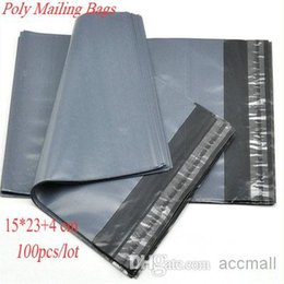 Wholesale Gray Seals - Grey Gray 15*27cm Poly Postal Packaging Express Bags Self-seal Mailing Bags 100% Degradable Mailers Bag Courier Post Bags Postage