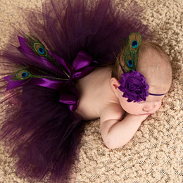 Wholesale Peacock Feathers Accessories - BABY Sunflower & peacock feather Headbands Infant girl boy Flower headwear Childrens fashion colorful Hair Accessories take photos 100pcs