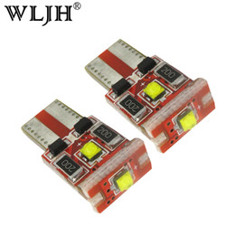 Wholesale W5w Cree Led - WLJH Canbus T10 W5W LED 9W Light Cree Chip No Error 550lm Motor Car Light Parking Number Plate Clearance Signal Interior Light 12V