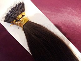 "Wholesale Wholesale Nano Ring Hair Extensions - DHL Free shipping 100% indian human queen hair products 5A 16""- 26"" 1g s 100s set stick tip nano ring hair extensions 2# dark brown"