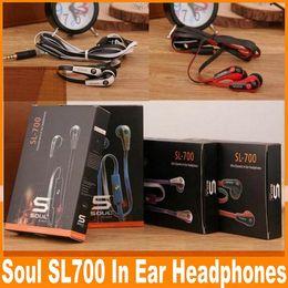 Wholesale ludacris earphones - 100PCS Good Quality Soul Mini SL700 By Ludacris Earphone With Mic For iPhone 6s 6 5s 5 Plus Mobile Phone MP3 Headphone Sport Headset OM-CB7