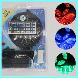 Wholesale Led Controller Boards - Black PCB Board 5050 SMD RGB 60Leds M IP65 12V Flexible LED strip Light String Ribbon +24 44 key controller+12v 5a