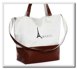 Wholesale Retro Classic Bag Handbag - 2015 New Canvas Women Handbag,Retro Classic PARIS Eiffel Tower Print Designer-handbags Women Handbags,Canvas Bag For Women Handbag