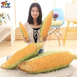 Wholesale Toy Corn - Wholesale- 3D Simulation plush corn maize cushion pillow toys stuffed doll baby kids children girlfriend birthday christmas gift present