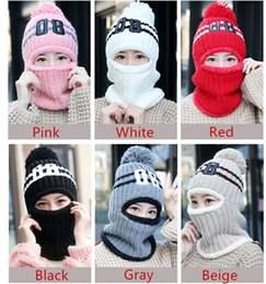Wholesale Wool Riding Hat - Female winter wool hat and cashmere knitted hat female ear warm windproof cap sleeve cap riding ear winter hats