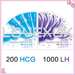 Wholesale Hcg Testing Strips - LOVEXOK 1000 PCS Medical LH Ovulation Tests+200 PCS HCG Pregnancy Test Strips FDA and CE Certificate DHL or Fedex