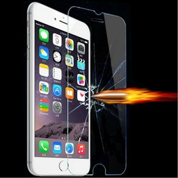 Wholesale Iphone 5c Ultrathin - New 0.3mm Ultrathin Premium Tempered Glass screen Protector For iPhone 6 6 Plus 5 5S 5C 4 4S For Samsung Galaxy S6