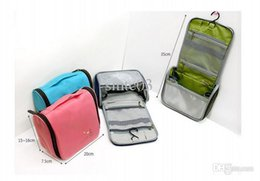 Wholesale Skincare Bags - Wholesale-SNB007Portable travel multi-functional waterproof hook toiletry bags toiletries skincare Cosmetic Cheap Big Capacity receive bag