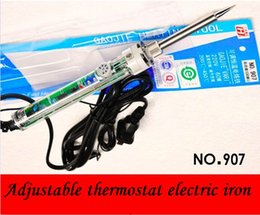 Wholesale Tools Welders - Original 220-240V 60W Electric Soldering Iron Adjustable Temp 200~400 Celsius Internal heating Solder Heat up fast Welder Tools