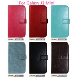 Wholesale Mini Wholesale Black Frame - For Samsung Galaxy J1 Mini Top fashion luxury Flip Wallet Leather Case Cover Photo Frame Card Slots