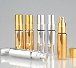 Argentina venta al por mayor 300 unids 5 ml botella de spray de viaje de color parfum para el perfume envases cosméticos vacíos portátiles con spray de aluminio Suministro