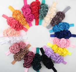 Wholesale Soft Band For Hair - Baby headbands Childrens Hair Accessories soft Flowers Headbands for girls Infant hair band Toddler headwear hair bows Kids birthday gift
