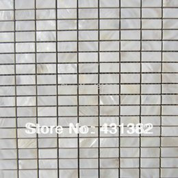 Wholesale Floor Tile Free Shipping - Free shipping home improvement freshwater shell mosaic tile mother of pearl white natural floor mosaics tiles background wall