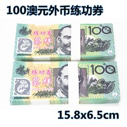 Wholesale Real Banks - 100% real high-grade paper fake prop money 100 Australian dollar exercise roll Bank school training institutions Film-specific props