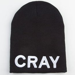 Wholesale Cray Hat - Cray Beanie Hat Fashion Warm Winter Beanies Knitted Hats Men Women Snow Wool Cap Party Skull Caps